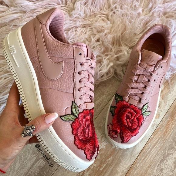 Nike Shoes Nwt Air Force 1 Upstep Leather Custom Poshmark